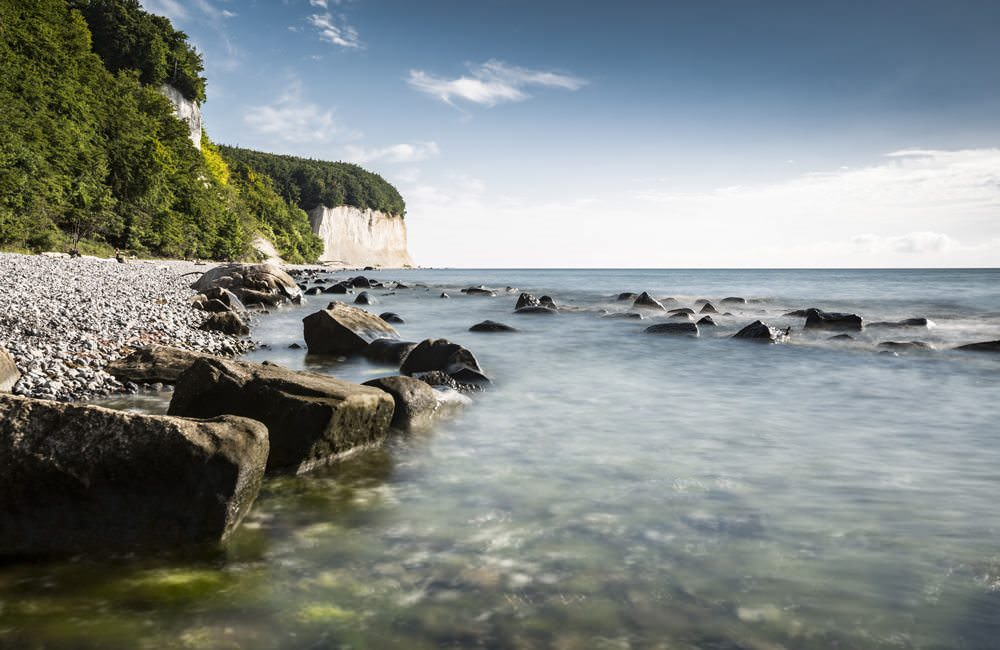 Kreidefelsen im Nationalpark von Jasmund auf der Insel Rügen